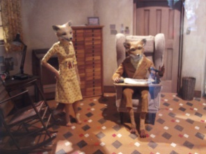 The stop motion set of Fantastic Mr Fox.