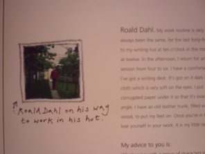Roald Dahl on his way to work - I found this massively moving.