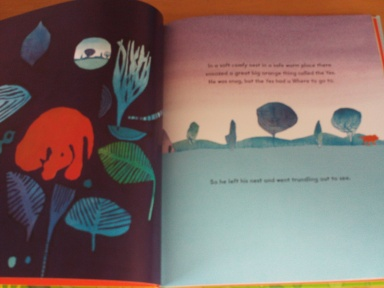 'the yes' : interior double page spread