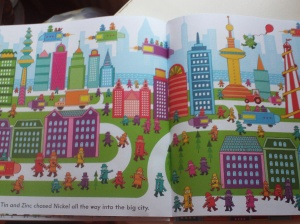 figure three: double page spread of the city.