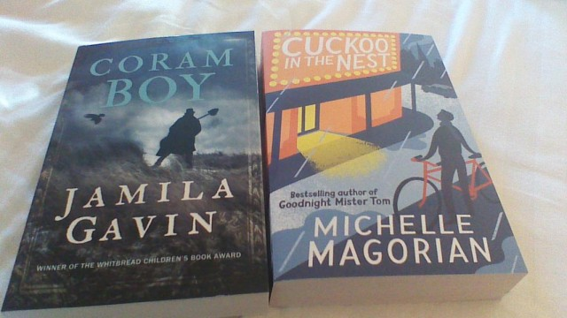 So thrilled to see new covers for Coram Boy and Cuckoo in the Nest. They both really get the styles of these books!