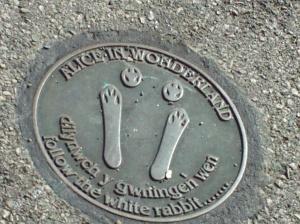 Alice in Wonderland Trail Marker in Llandudno