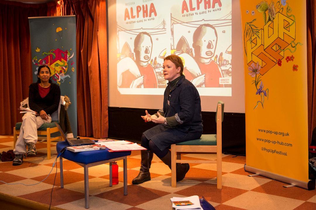 Bessora and Sarah talking about Alpha
