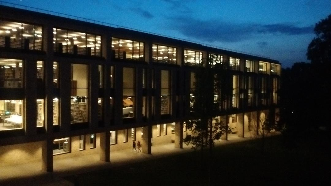 University of Roehampton Library at Night