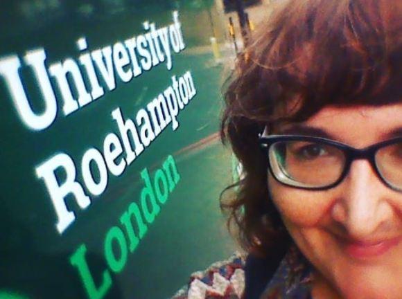 Selfie with the University of Roehampton Sign