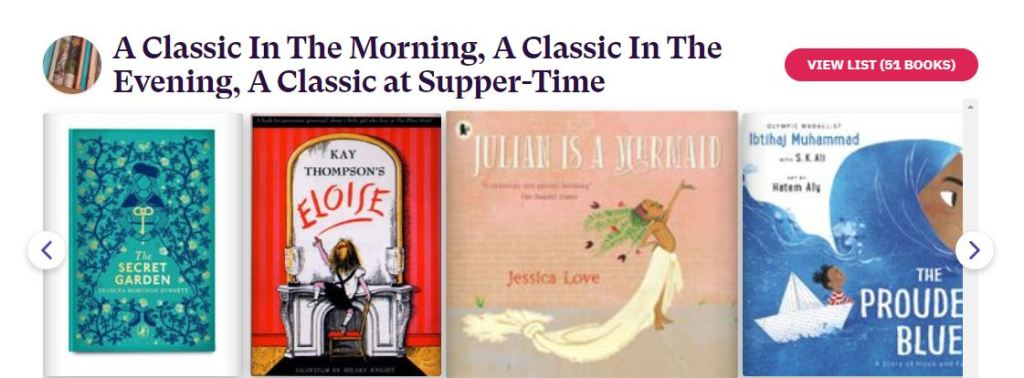 Several book covers with the caption 'A Classic in the Morning, A Classive in the Evening, A Classic at Supper time'